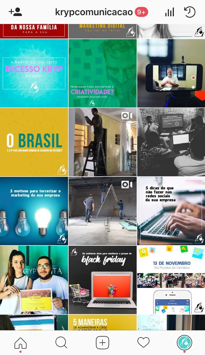 marketing digital instagram kryptonita comunicação campinas